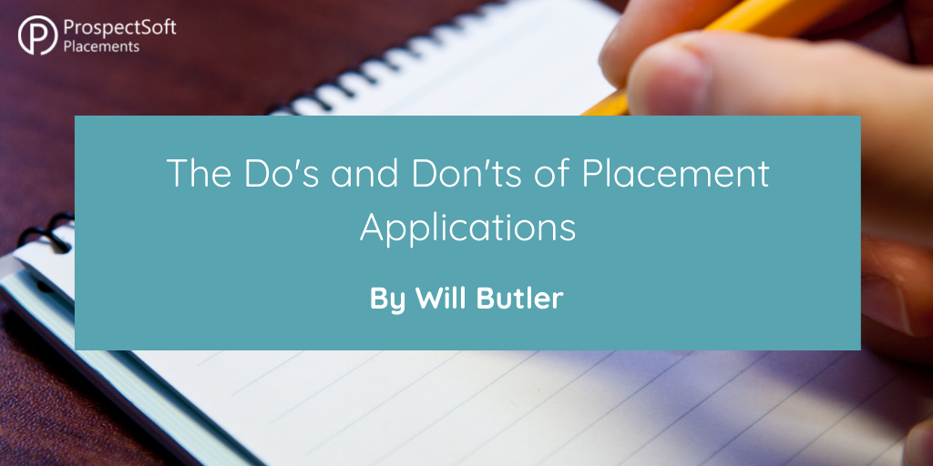Do's and Don'ts of Placement Applications
